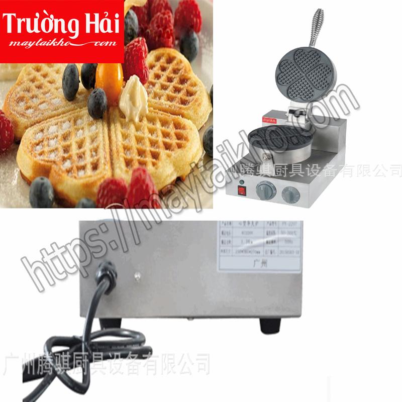 máy làm bánh waffle hình trái tim
