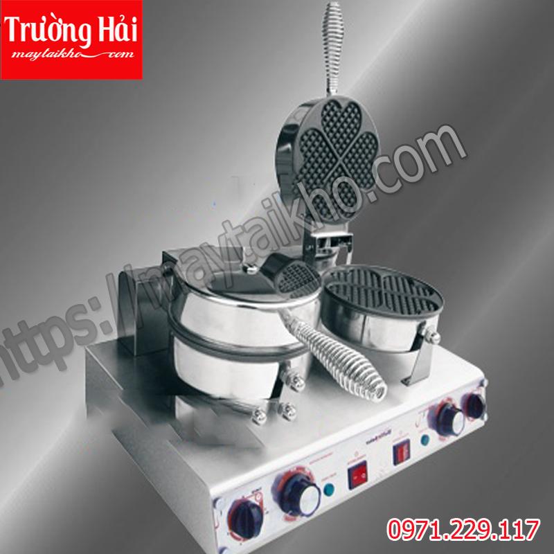 Máy làm bánh waffle HFL-02 hình trái tim bếp đôi