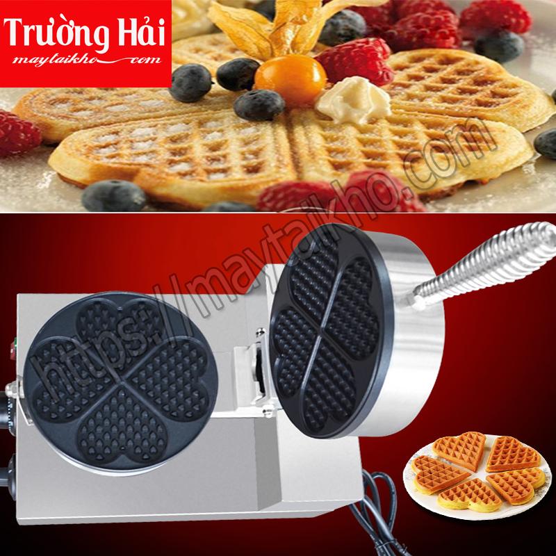 hình ảnh chi tiết máy làm bánh waffle hình trái tim