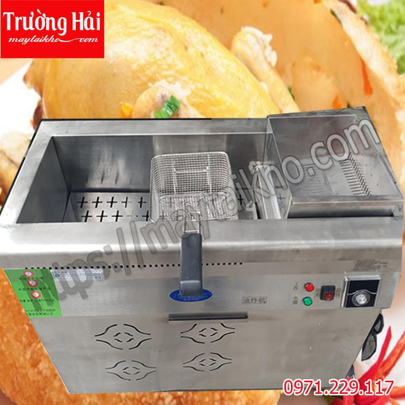 Bếp chiên tách nhúng tách dầu nước  35L dùng điện /gas