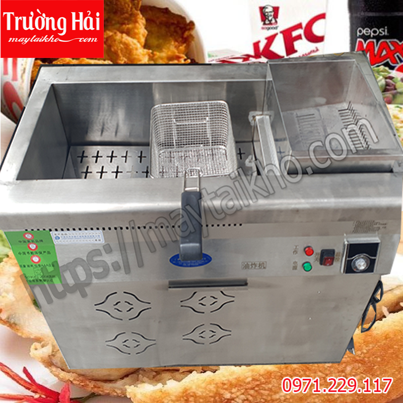 Bếp chiên dầu nước 50 lít dùng điện hoặc gas