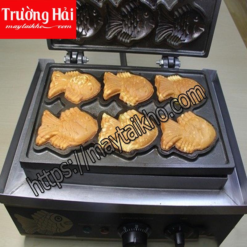 Máy làm bánh cá taiyaki – Lên nhiệt chuẩn bánh siêu ngon